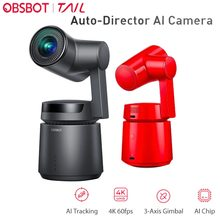 OBSBOT Auto-Director Vlog AI Camera 4K/60fps Video 12 MP Photos 3-Axis Gimbal with Integrated Camera AI Tracking Shooting 360(China)