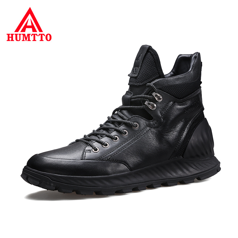 High Quality Genuine Leather Mens Shoes Soft Non-slip Cushioning Outdoor Boots Men Waterproof Light Casual Man Boots