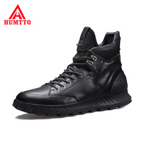 High Quality Genuine Leather Mens Shoes Soft Non slip Cushioning Outdoor Boots Men Waterproof Light Casual Man Boots