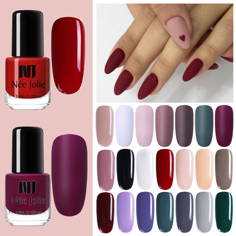 NEE JOLIE Nail Polish 68 Colors Glimmer Pearly-lustre Nail Art Polish Coffee Gray Series Glitter Nails Lacquer Decoration 3.5ml