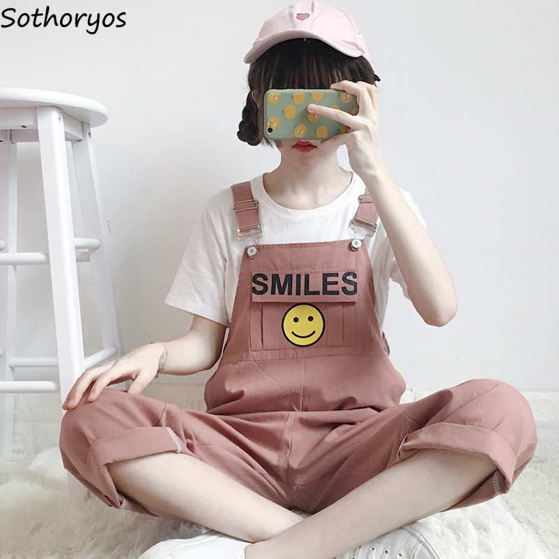 Jumpsuits Women 2020 Spring And Summer New Korean Style Leisure Simple All-match Lovely Slim Womens Wide Leg Trousers Female