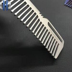 Image 4 - Titanyum tarak erkekler ve kadınlar için tarak saç kesme tarağı EDC