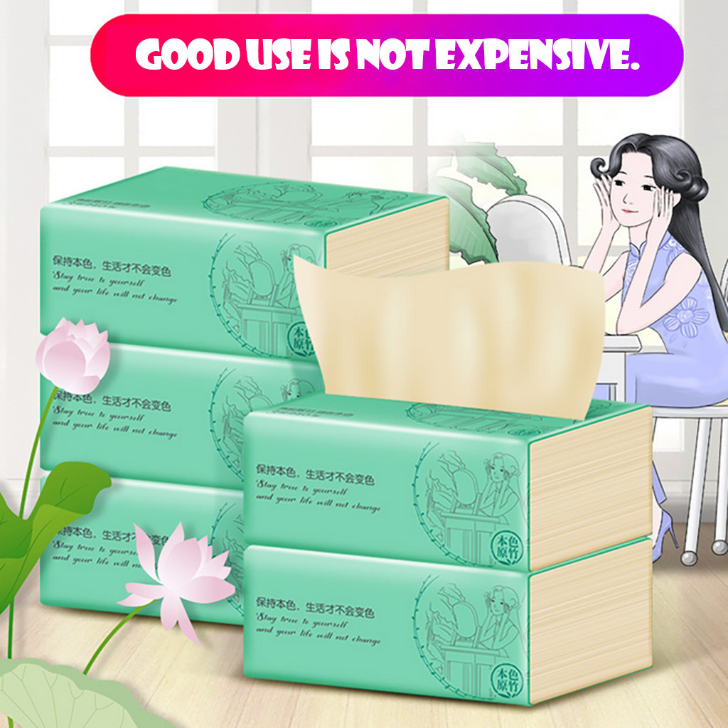 5 Packs Of Bamboo Toilet Tissue Pulp Pumping Toilet Paper Available For Mother And Babies Papel Higienico туалетная бумага