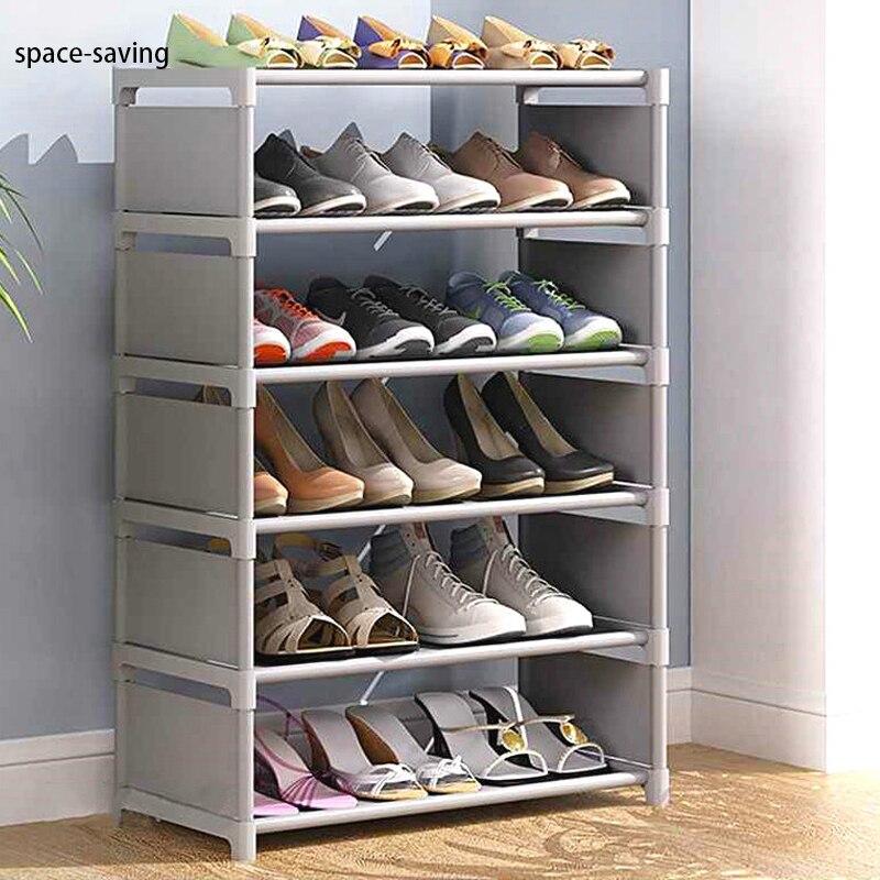 Multilayer Shoe Cabinet Simple Assemble Shoe Organizer Rack Saving Space Living Room Furniture Storage Holder Dorm Shoe RacK