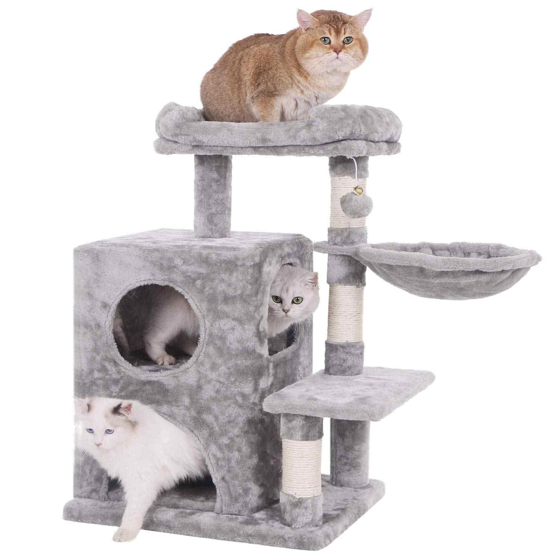 Ttlife 31 89 Grey Cat Tree House