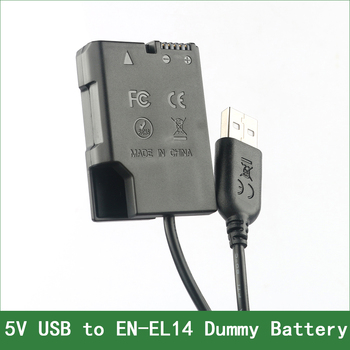 EN-EL14 EP-5A Dummy Battery Adapter Plug DC Power Bank For Nikon D5600 D5500 D5300 D5200 D5100 D3500 D3400 D3300 D3200 D3100 en el14 ep 5a dummy battery adapter plug dc power bank for nikon d5600 d5500 d5300 d5200 d5100 d3500 d3400 d3300 d3200 d3100