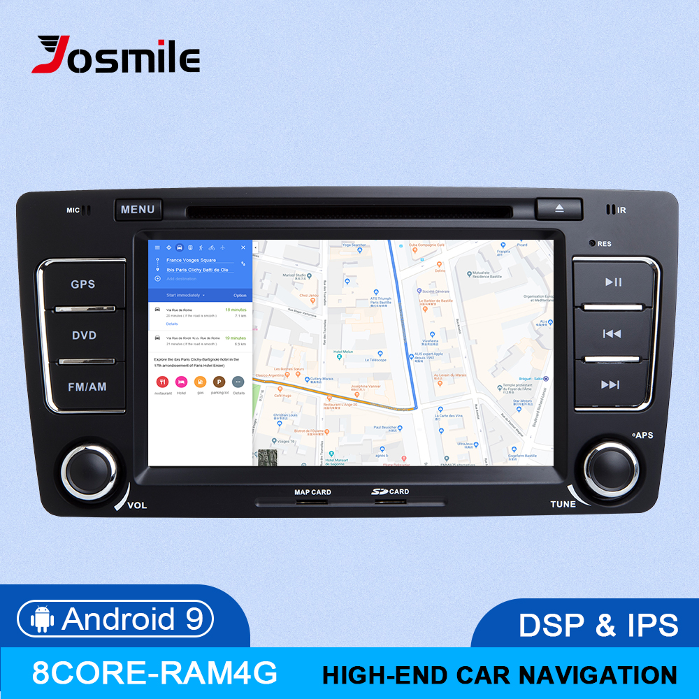 8Core 64G ROM IPS DSP Android 9.0 Car DVD Player For Skoda Octavia 2 3 A 5 A5 Yeti 2009 2010 2011 2012 2013 Radio GPS Navigation