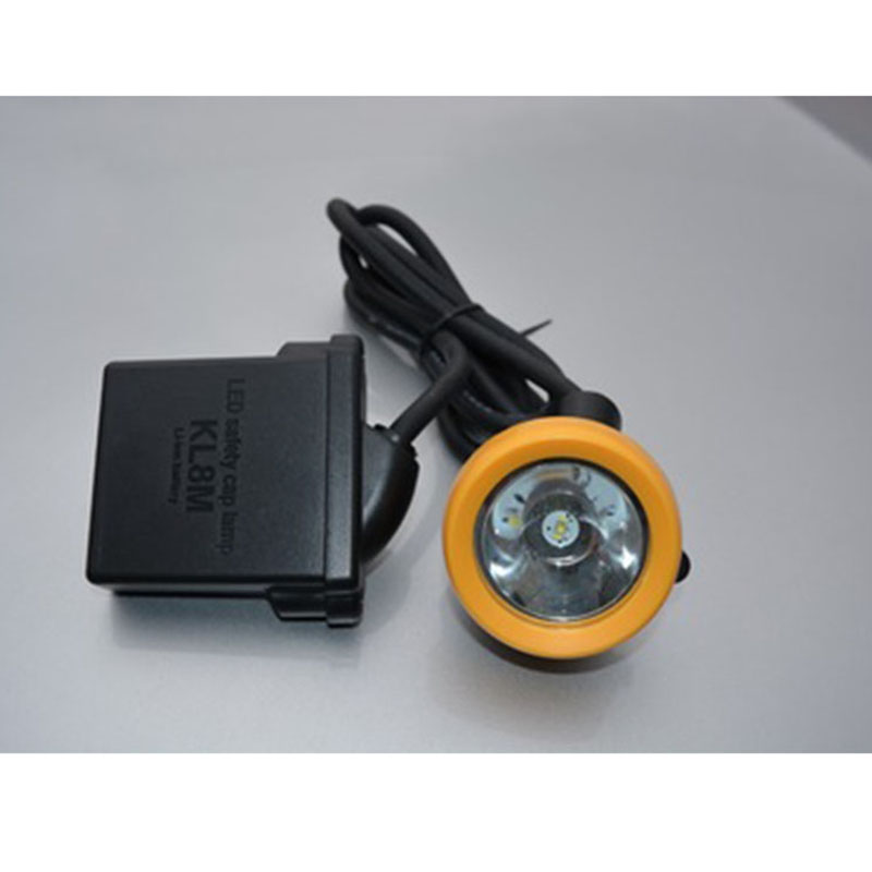 8.8A KL8M <font><b>Rechargeable</b></font> <font><b>LED</b></font> Lithium Battery Waterproof and Anti-riot Miner Lamp Camping Night Fishing <font><b>Light</b></font> 16000LUX image