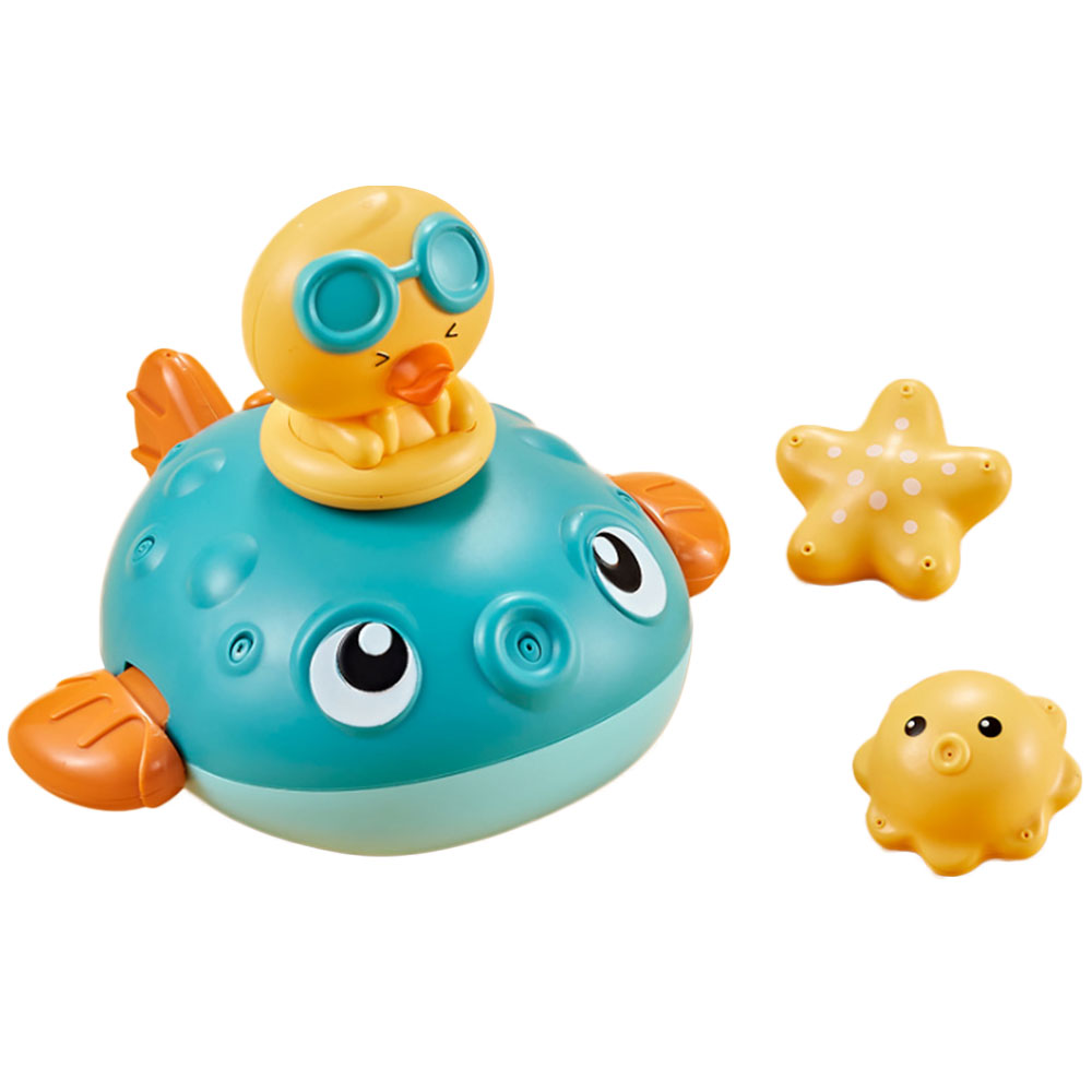 Electric Water Puffer Fish Baby Summer Bathroom Bath Toys Baby Water Play Shower Sprinkler Educational Game Water Spraying Toys