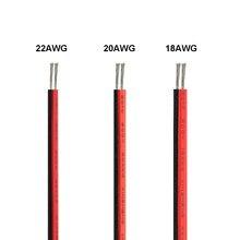 Cabo de fio elétrico de 20/100m, 2 pinos, fio led, 22awg 12v, fio de cobre estanhado para suporte da bateria para lâmpada led