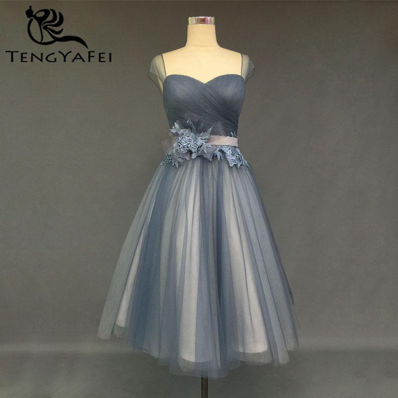 Short Prom Dresses A-line Lace Flower Sashes 2015 Sexy Sweetheart Evening Dress Louisvuigon Woman Knee-length Vestido Cap Sleeve