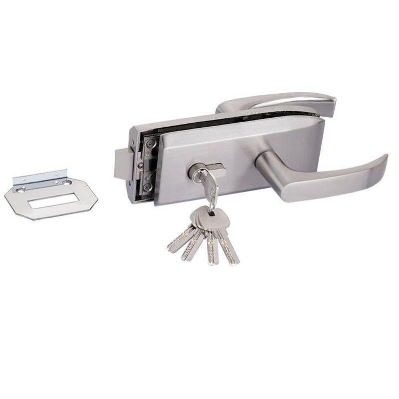 Entry Gate 10-12mm Glass Door  Locks W Key Swing And Sliding Door Aluminum Frameless Glass Door Lock, High Separation Door Lock