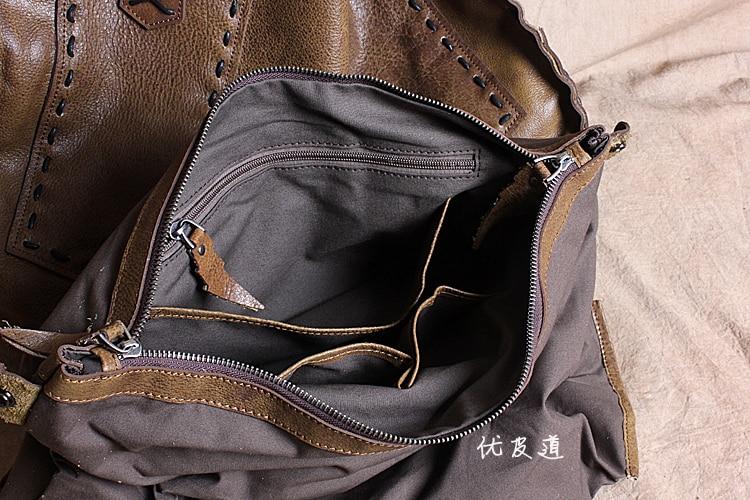 Frete grátis grande saco de couro macio