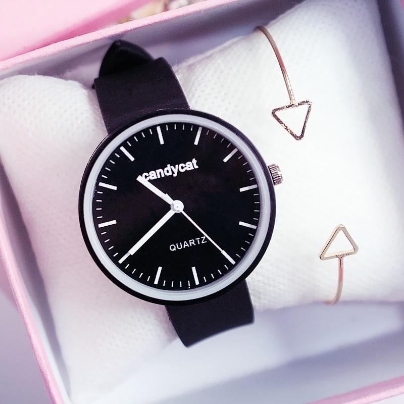 Fashion Women Watches For Girls Silicone Strap Belt Student Female Wrist Watch Ladies Jelly Color Quartz Clock Relogio Feminino