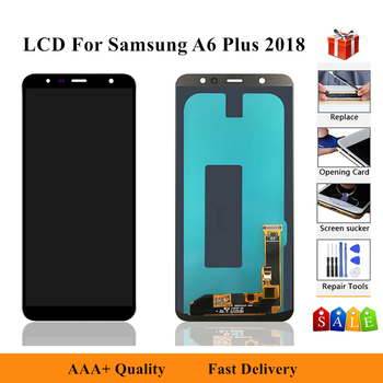 Display Pantalla For Samsung Galaxy A6 Plus 2018 A605 A605F A605FN Screen Display Touch Screen Assembly LCD Replacment Parts