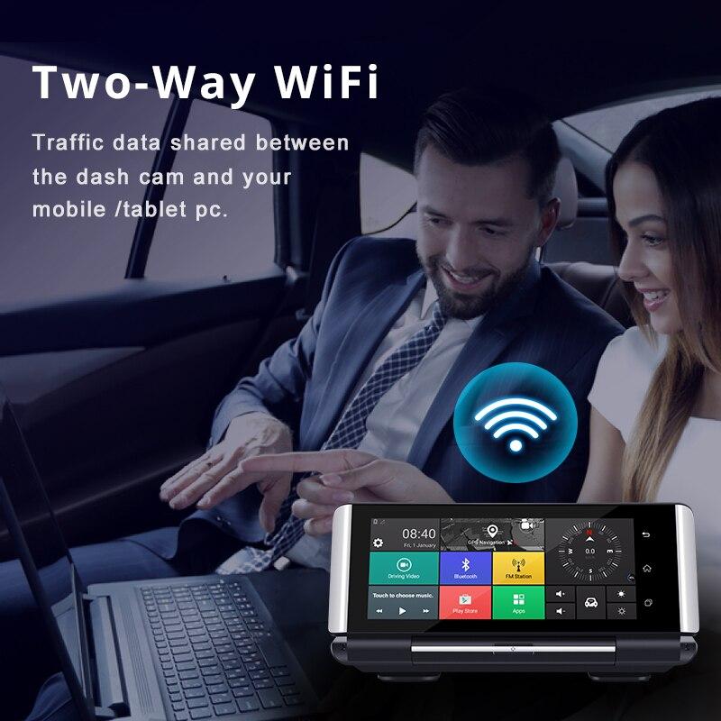 Maiyue stella 7 Pollici 4G Auto DVRFHD 1080P Android Dash Macchina Fotografica di GPS di Navigazione ADAS Auto Video Recorder Dual lente con Telecamera di retromarcia - 4