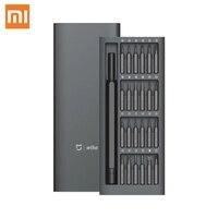 Kit di cacciaviti originali Xiaomi Wiha per uso quotidiano 24 punte magnetiche di precisione scatola in alluminio Set di cacciaviti fai-da-te per casa intelligente