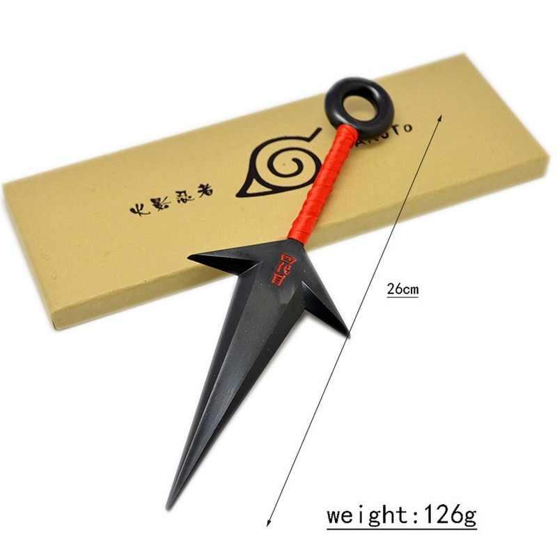 Anime Naruto Namikaze Minato Cosplay Accessori Konoha Kakashi Ninja Arma Armatura Shuriken Metallo Coperte e Plaid 26 centimetri Kunai Costume Prop