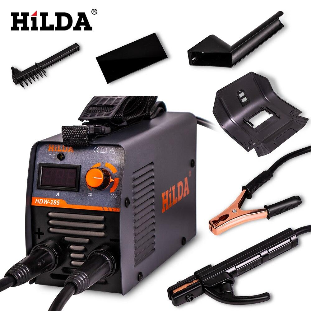 HILDA Schweißen Ausrüstung Arc Schweißer Tragbare Schweiß Maschine Effiziente Inverter ARC Schweißer 220V DC für Home Anfänger