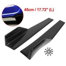 Боковые юбки подходят для универсальных транспортных средств черного цвета 450 мм наружные боковые нижние линии расширения сплиттер губ авт...