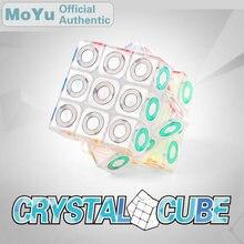MoYu Crystal 3x3x3 Magic Cube Cubing Classroom 3x3 Brain Teaser Speed Puzzle Antistress Fidget Educational Toys For Children 3x3x3 brain teaser magic iq cube