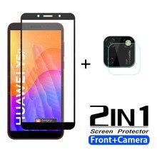 2in1 vidro temperado para huawei y5p protetor de tela da câmera para huawe y5p y5 p y 5 p 5 p película de vidro protetora huavei y5p
