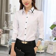 Women Shirts Elegant White Shirt Plus Size Korean Fashion Cotton OL Blouses Blusas Mujer De Moda 2019