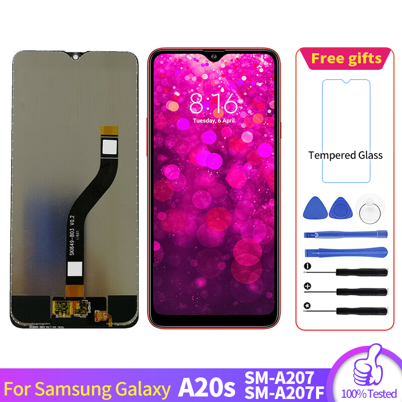 For <font><b>Samsung</b></font> <font><b>Galaxy</b></font> <font><b>A20s</b></font> A207 SM-A207F SM-A207U <font><b>LCD</b></font> Display <font><b>Screen</b></font> Digitizer Assembly For <font><b>Samsung</b></font> A207 pantalla With Tools image
