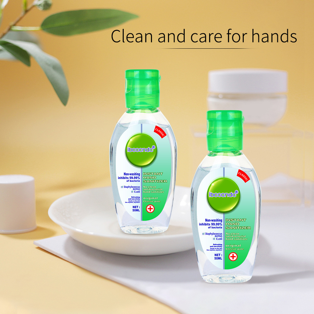 2PCS 75% Alcohol Hand Sanitizer Gel Disposable Disinfecting Hand Wash Gel Anti Virus Bacteria Waterless Portable Hand Soaps