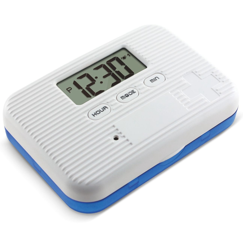 Dust Proof 6 Grid Pill with Electronic Timer and Alarm Reminder for Keeping the Medicines Safely