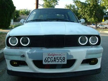 цена на For BMW E36 E38 E39 E46 projector Ultra bright SMD white LED angel eyes 2600LM 12V halo ring kit daytime light 131mmx4