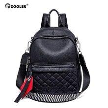 ZOOLER Luxury Fashion Designer Women Genuine Leather Backpack large Shoulder School Bags for girls Travel bag Cowhide Female
