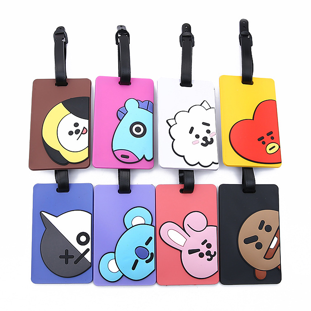 New Fashion Suitcase Luggage Tag Portable Silica Gel Waterproof Cartoon Baggage Tag Travel Accessories ID Address Holder Label