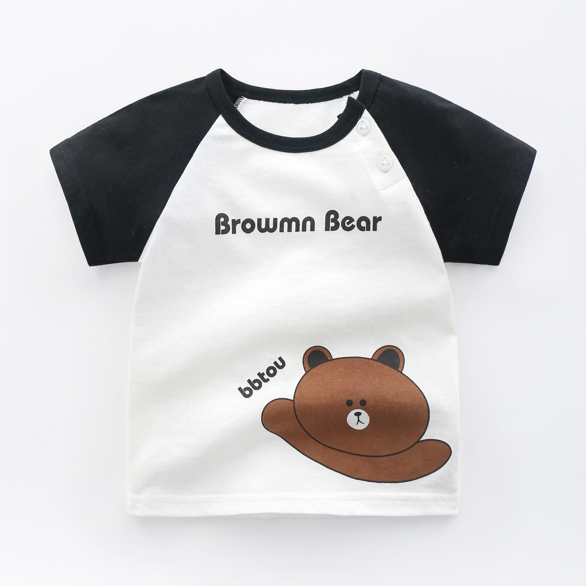 Summer Children's Wear Baby Kids T Shirts Girls Boys Clothes Tshirt Cotton Cartoon Printing Tops T-shirt Children Clothing-4