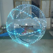 inflatable water ball with led lighting water rollering Human Bowling Balls for game Dance Balles water walk balles for events(China)