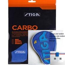 Original stiga carbo 6 estrellas, juego de raquetas de tenis de mesa para raquetas deportivas de raqueta de ping pong de raquetas acabadas de carbono