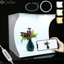 Cadiso estudio fotográfico de 31cm, iluminación para tienda, caja de luz, anillo de fondo fotográfico, caja suave para cámara de teléfono móvil