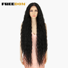 FREEDOM-pelucas sintéticas para mujeres negras, Pelo Rizado largo de 42 pulgadas, peluca de Cosplay de fibra sintética ombré Rubio, Alta Temperatura