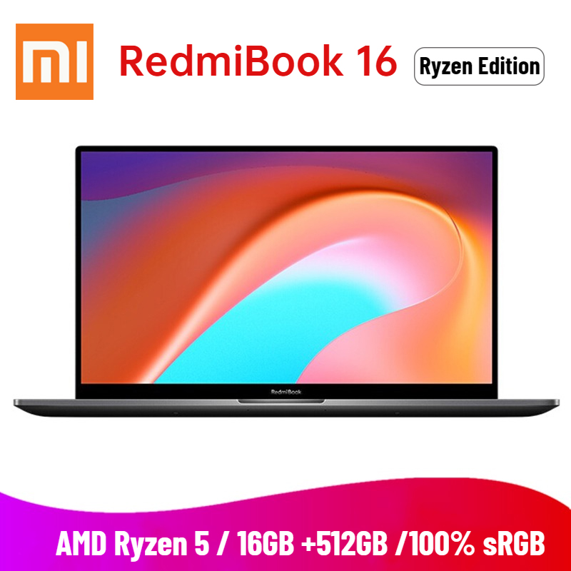 2020 Xiaomi Redmibook 16 Laptop AMD Ryzen 4500U 16 1 inch FHD 16GB DDR4 512GB SSD 100percent sRGB Windows 10 Type C HDMI