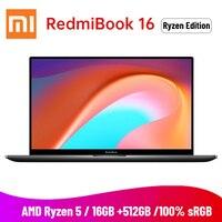2020 Xiaomi Redmibook 16 Laptop AMD Ryzen 4500U 16.1 inch FHD 16GB DDR4 512GB SSD 100% sRGB Windows 10 Type C HDMI