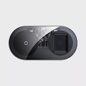 Image 4 - شاحن لاسلكي Beisi 2 في 1 15 واط جهاز مزدوج شحن سريع حماية ذكية شاحن لاسلكي مزدوج للهاتف المحمول سماعة