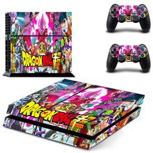 Dragon Ball Super Play station 4 Stickers PS 4 Sticker PS4 Skin Pegatinas Adesivo For PlayStation 4 console and 2 controller