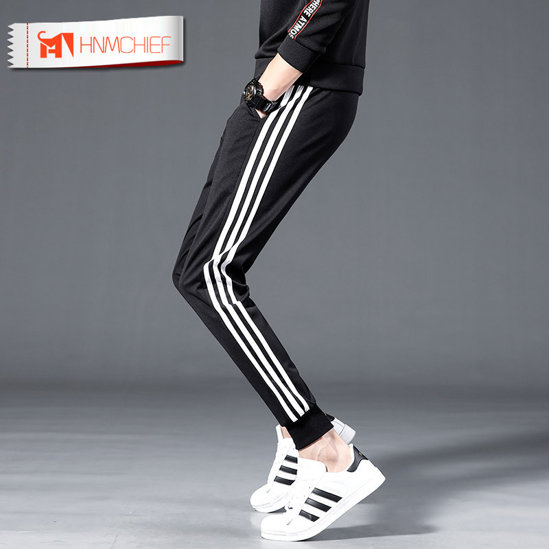 HNMCHIEF Men's Casual Pants Micro-elastic Brand Gyms Joggers Sweatpants Joggers Trousers Sporting Clothing Bodybuilding Pants