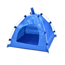 Oxford Folding Pet Tent House Dog Cat Playing Mat Waterproof Kennel Bed Outdoor Camping Travel Home Cage 1pcs