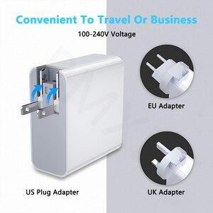 Image 3 - 48 واط PD نوع C و 3 منفذ USB شاحن الاتحاد الأوروبي الولايات المتحدة الاتحاد الافريقي المملكة المتحدة التوصيل محول الهاتف الجدار شاحن QC3.0 شحن سريع آيفون هواوي الشرف 9x