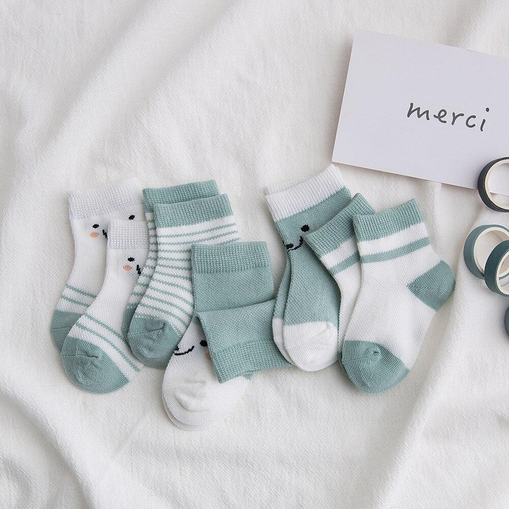 5Pairs/lot 2-9Y Baby Socks Summer Cotton Color Aminal Bear Kids Socks Colorful Girls Mesh Cute Newborn Boys Toddler Socks Baby 2