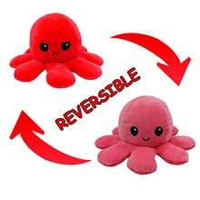 Симпатичная мягкая двухсторонняя игрушка-Осьминог для детей, рождественский подарок, двухсторонняя плюшевая игрушка-флип, детский подарок...