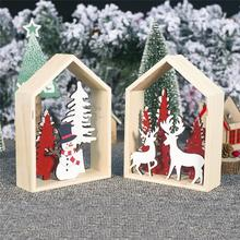 2020 Xmas christmas Table decorations for home Christmas ornaments DIY tree snowman decoration elk cabin new year 1PCS