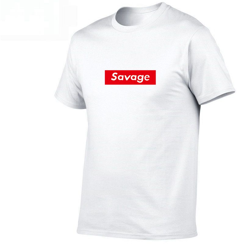 2019 Mens t shirts Savage T Shirt Parody No Heart X Savage Mode Slaughter Gang ATL 100% Cotton short sleeved t-shirt