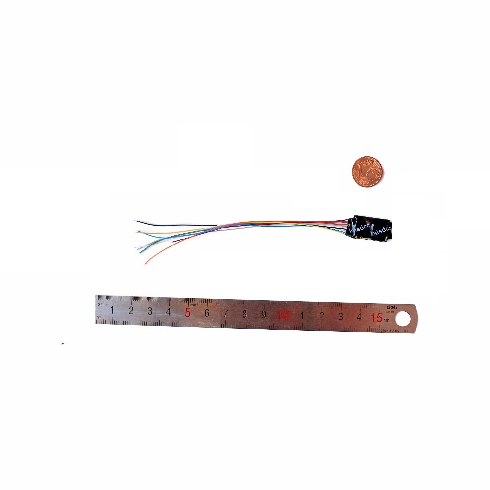 DCC LOCO DECODER HO & N SCALE MODEL TRAIN 4 ფუნქციით 9 მავთული 860014 / LaisDcc ბრენდი / PanGu Serie